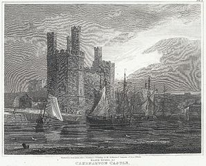 Eagle Tower, &c. Caernarvon Castle: Caernarvonshire, north Wales