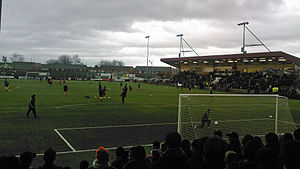 Ochilview Park - East Stirlingshire's opponents Dundee United warm up before a Scottish Cup fourth round match at Ochilview in 2009