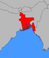 Map of Pakistan with East Pakistan مشرقی پاکستان highlighted