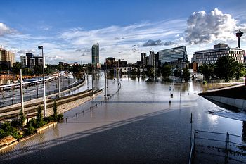 East Village Calgary Flood 2013.jpg