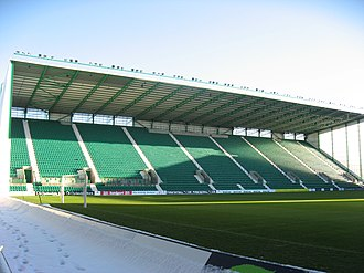 Easter Road - The new East Stand, opened in August 2010.