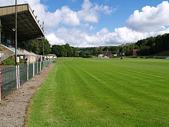 Eugene Cross Park - Image: Ebbw Vale Rugby Ground geograph.org.uk 498156