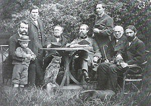 Julius Theodor Christian Ratzeburg - Teachers of the school of forestry in Neustadt-Eberswalde around 1868 (from left): Robert Hartig (embracing Peter Danckelmann), unknown, Julius Theodor Christian Ratzeburg, Bernhard Danckelmann, Adolf Remelé, Wilhelm Schneider and Wilhelm Schütze