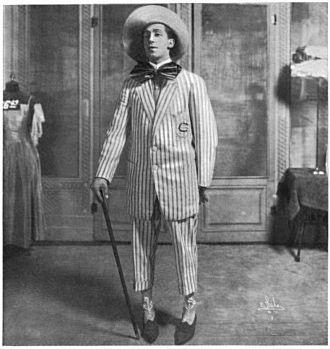 """Ed Wynn - Ed Wynn as """"Mr. Busybody"""" 1908"""