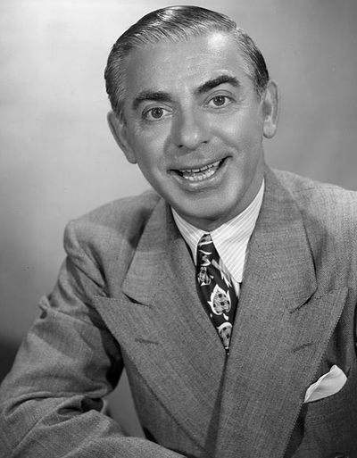 Eddie Cantor, American actor, singer, dancer and comedian