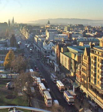 Edinburgh congestion charge - Princes Street - at the centre of the proposed city centre cordon