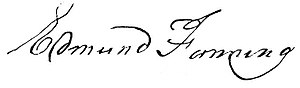 Edmund Fanning (colonial administrator) - Image: Edmund Fanning (signature)