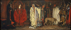 Edwin Austin Abbey - King Lear, Act I, Scene I (1897-98), Metropolitan Museum of Art.
