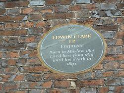 Photo of Edwin Clark grey plaque