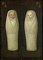 Een ingebakerde tweeling; de vroeg gestorven kinderen van Jacob de Graeff en Aeltge Boelens Rijksmuseum SK-A-981.jpeg