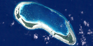 Landsat-Bild der Egmont Islands