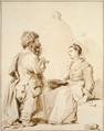 Ein Zwerg und eine junge Frau im Gespräch (SM 1103z).png