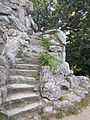 Elisabeth Memorial Rock with stairs. - Elisabeth Park, Gödöllő.JPG