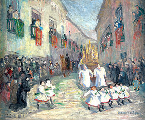 Elizabeth Campbell Fisher Clay - Elizabeth Campbell Fisher Clay, Holy Week in Seville, oil on canvas, 1907