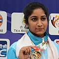 Elizabeth Susan Koshy of India won Silver Medal in Women's 50m Rifle Shooting, at the 12th South Asian Games-2016, in Guwahati (cropped).jpg