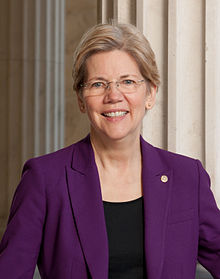 Portrait officiel d'Elizabeth Warren, 2013.