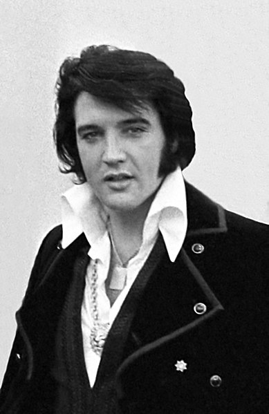 Elvis Aaron Presley January 8, 1935 – August 16, 1977 ~ File:Elvis Presley 1970.jpg