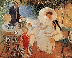 E. Phillips Fox - The Arbour (1910)