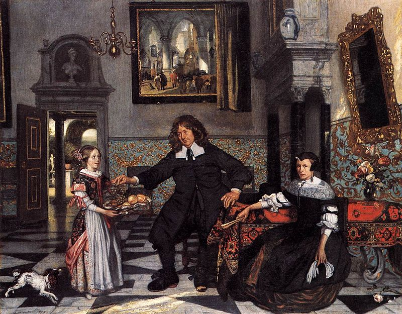 Emanuel de Witte - Portrait of a Family in an Interior - WGA25820.jpg
