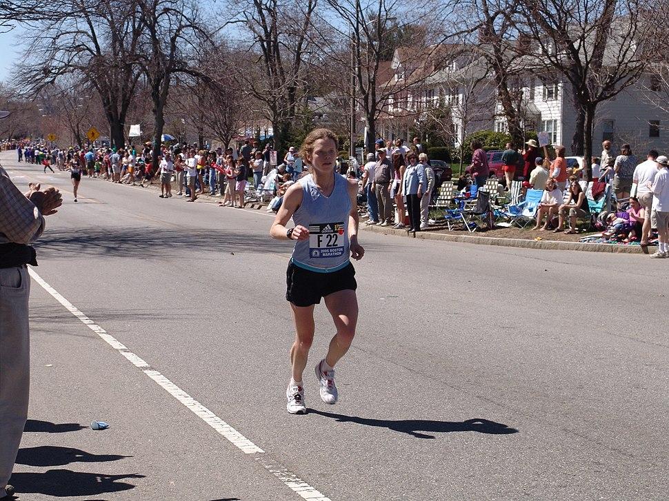 Emily Levan Heartbreak Hill Boston Marathon 050418 dodged