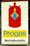 Enamel advertising sign, Progas Vertriebsstelle.JPG