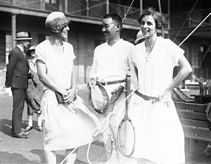 1924 in Australia - Entertaining visiting Japanese naval officers at a tennis party at Victoria Barracks, Sydney, 26 January 1924