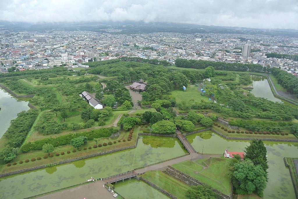 Entire views of Goryokaku from Goryokaku Tower 20140807