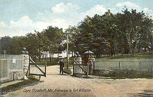 Fort Williams (Maine) - Entrance to Fort Williams, circa 1907