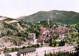 Eppstein - Eppstein and the ruin of Castle Eppstein, between 1890 and 1905