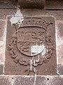 Escudo de armas del rey Felipe IV de España, sobre la puerta de entrada del Castillo de San Francisco o Castillo del Rey.jpg
