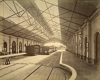 Rail transport in Argentina - Del Parque station built in 1857, later closed in 1883.