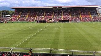 Estadio Alejandro Morera Soto - The stadium, seen from the west stand