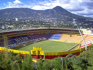El Salvador national football team - Aerial view of the Estadio Cuscatlán, El Salvador's national stadium