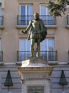 Statue of Cervantes (Madrid) Monument in plaza de las Cortes, Madrid