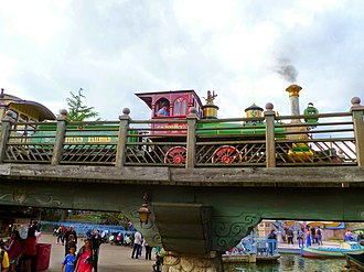 Disneyland Railroad (Paris) - Image: Euro Disneyland Rairoad No.2 C.K. Holliday