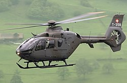 Eurocopter EC-635 P2 Switzerland - Air Force T-358, LSMA Alpnach, Switzerland (modified).jpg