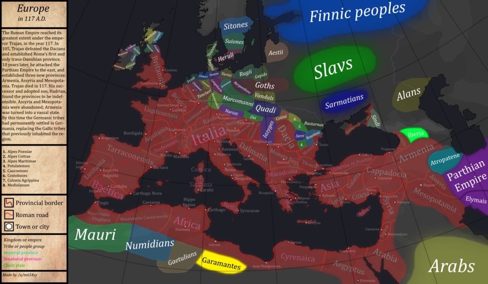 Europe-In-117AD