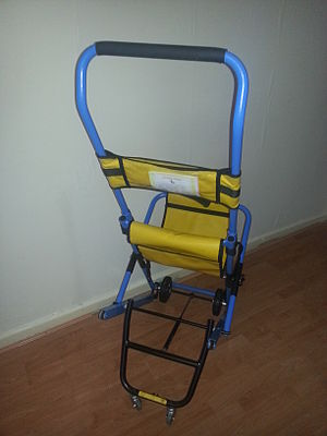 Escape chair - Evacuation Chair Photographed by MECSL