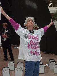 Eve Tetaz at an anti-war protest in March 2007. By Lori Perdue.