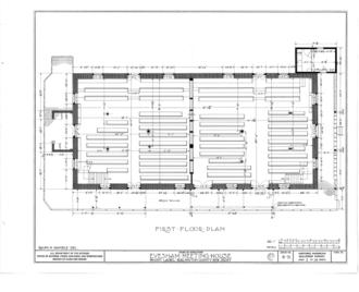 Evesham Friends Meeting House - Image: Evesham Friends Meeting House, Mount Laurel Road, Mount Laurel, Burlington County, NJ HABS NJ,3 MOULA,1 (sheet 2 of 14)