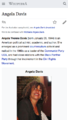 Example of lead paragraph move, Angela Davis article.png