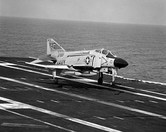 PIRAZ - A US Navy F-4J Phantom fighter typical of PIRAZ controlled CAP.