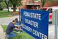 FEMA - 45126 - Working on the Disaster Recovery sign in Iowa.jpg