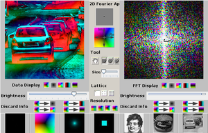 Java applet, demonstrating 2D FFT