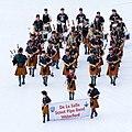 FIL 2012 - Arrivée de la grande parade des nations celtes - De la Salle Scout pipe band.jpg