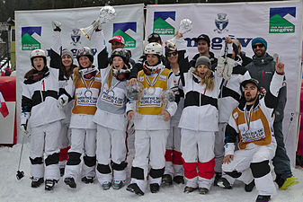 FIS Moguls World Cup 2015 Finals - Megève - 20150315 - Team Canada 2.jpg