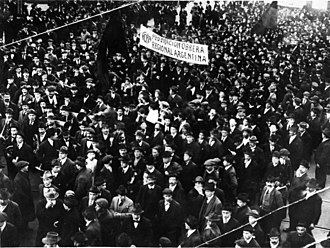 Syndicalism - Demonstration by the Argentine syndicalist union FORA in 1915