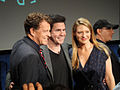 FRINGE On Stage @ the Paley Center - John Noble and Anna Torv pose with moderator Ralph Garman (5741704772).jpg