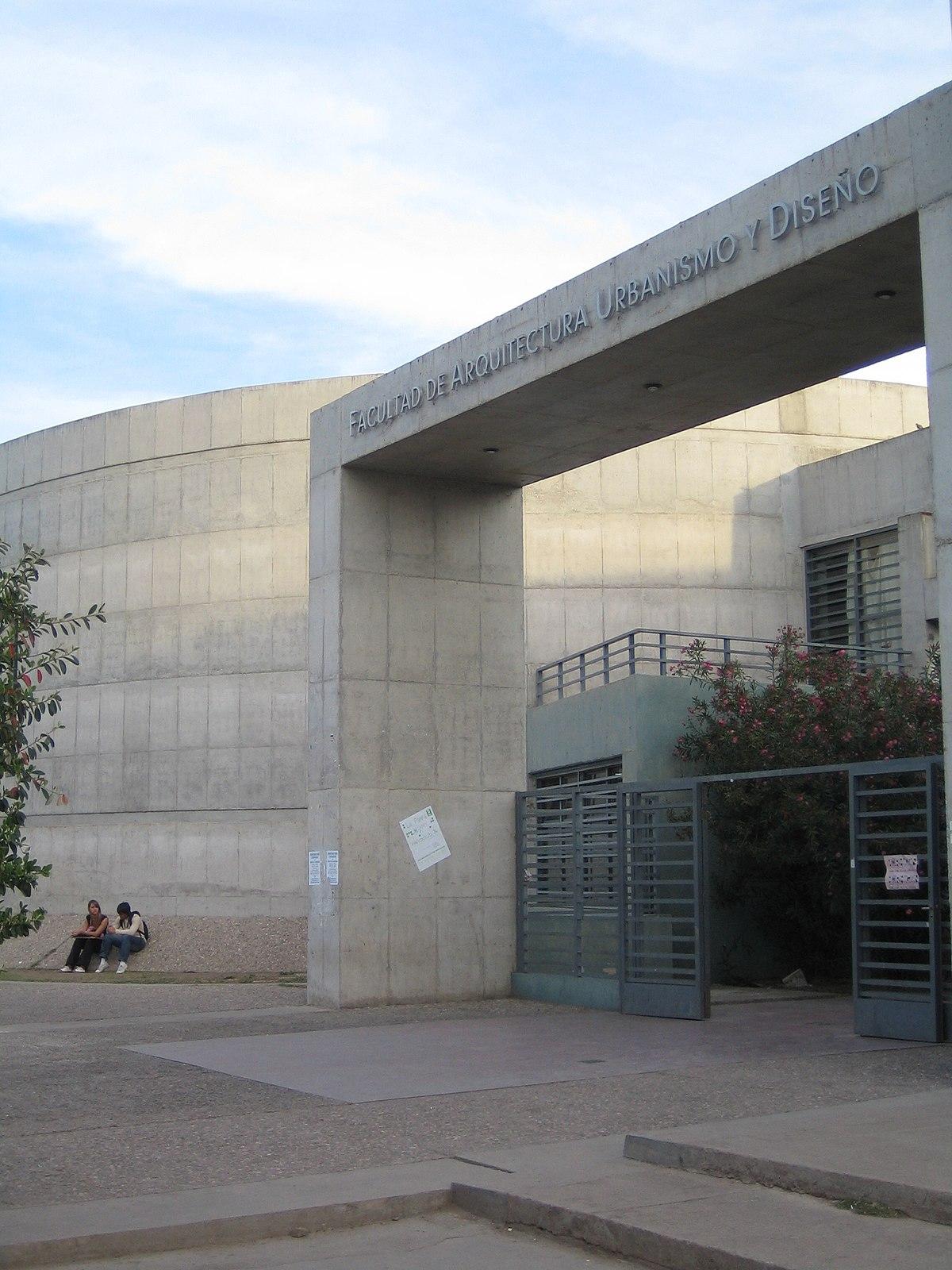 facultad de arquitectura urbanismo y dise o universidad