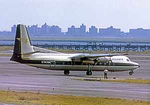 Mohawk Airlines - Fairchild Hiller FH-227 at New York-JFK in September 1970